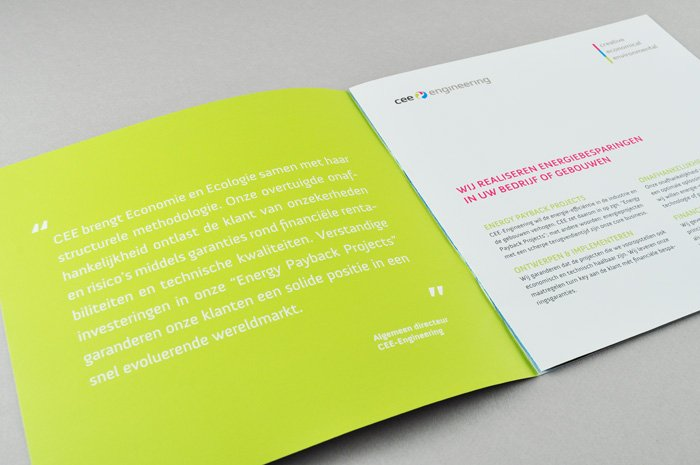 grafisch ontwerp brochure CEE engineering
