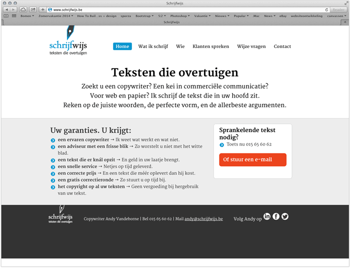 responsive website met wordpress Schrijfwijs
